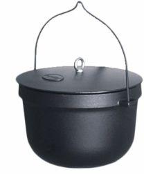 Kotliček+ pokrov 20 L litoželezo-emajl Pl.