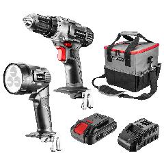 SET 5/1 Vrtalnik,svetilka, baterija, polnilec+ torba AKU ENERGY+ brez baterije - 58G016 Graphite