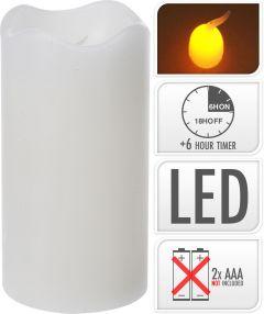 Sveča led 70x130 mm, bela, timer, Koo.
