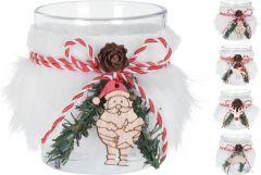 Okras božični kozarec za svečo 65 mm, Koo.