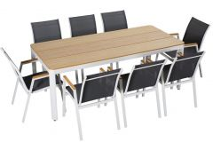 Garnitura vrtna Montenegro miza + 8 stolov, Flor.
