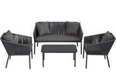 Garnitura vrtna Malaga, miza+sofa+2stola, Flor.