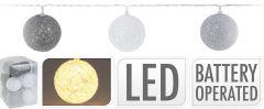 Lučke 10 led kroglice toplo bele baterisjke notranje, Koo.